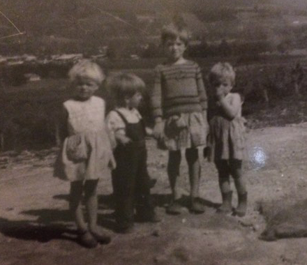 Denise Roberts and her brother and sisters